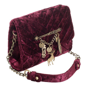 Harry Potter Spells Velvet Crossbody Bag