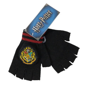 Harry Potter Hogwarts Crest Knit Fingerless Gloves