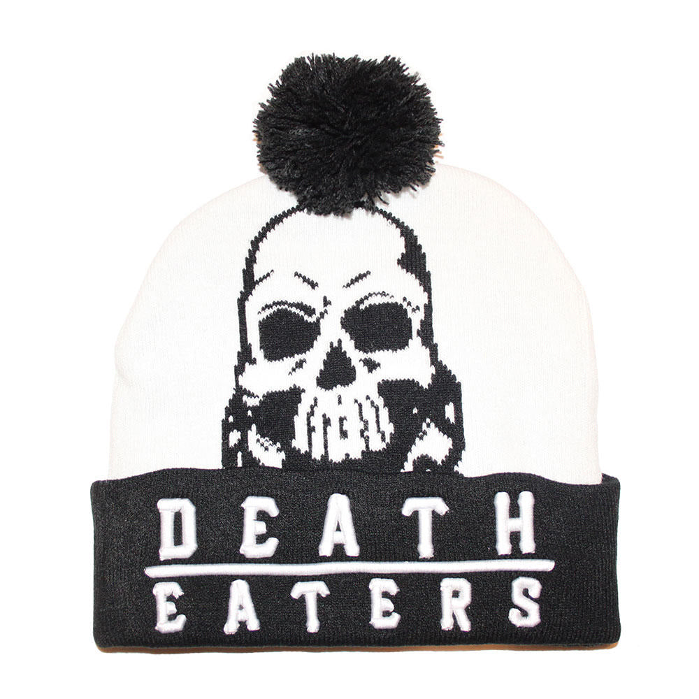 Death Eater Black & White Pom Pom Hat