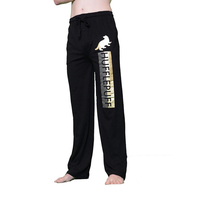 Harry Potter Hufflepuff Reflective Gold Foil Pajama Pants