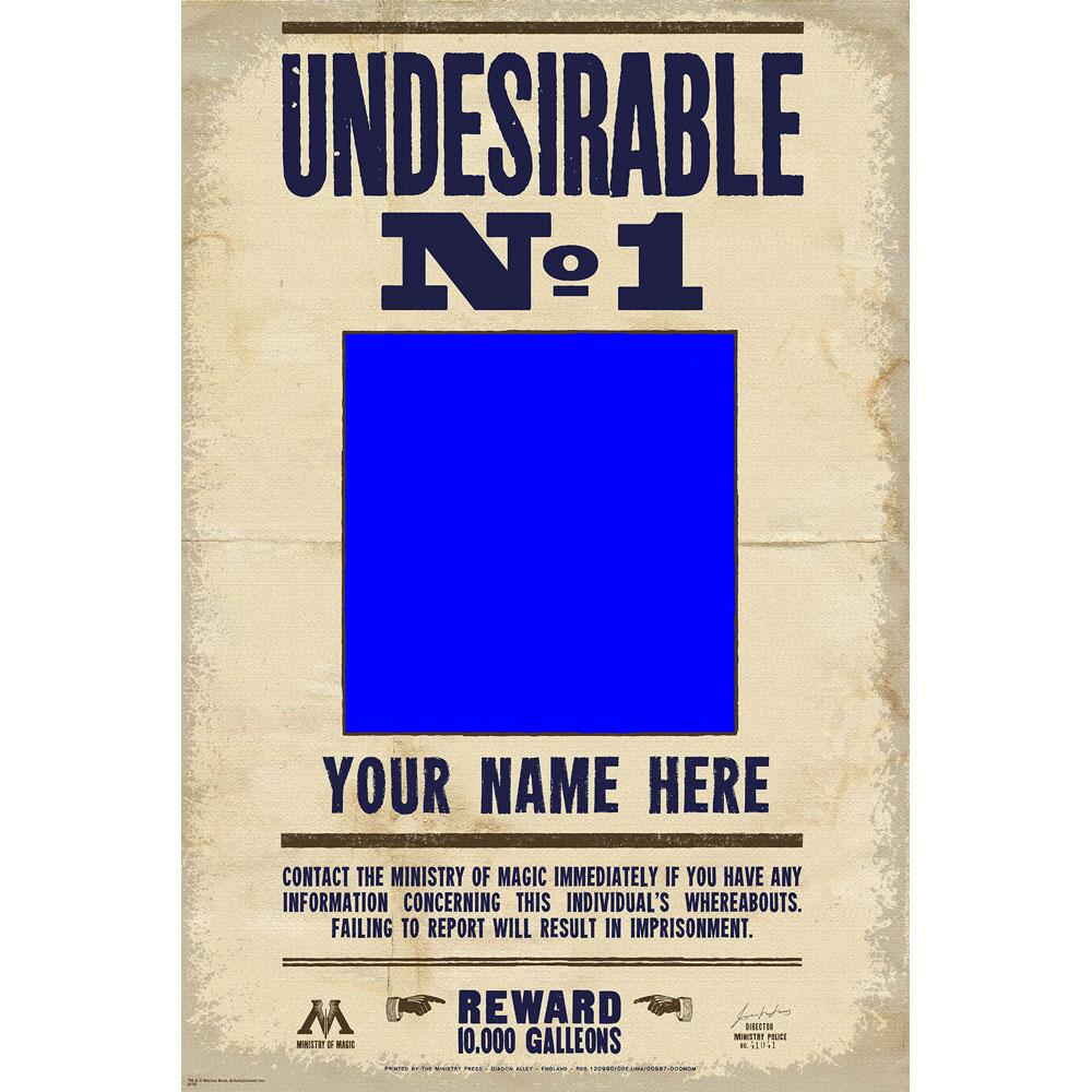 Undesirable No. 1 Custom Photo Poster, with Custom Name 20 x 30