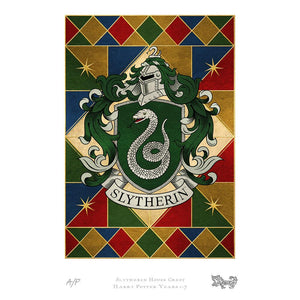 Slytherin House Crest Art Standard Limited Edition Print by MinaLima