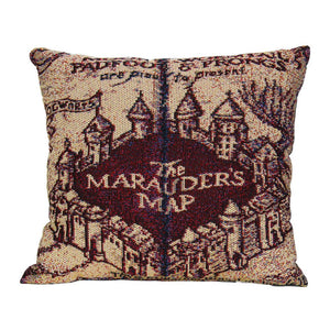 Marauder's Map Woven Pillow
