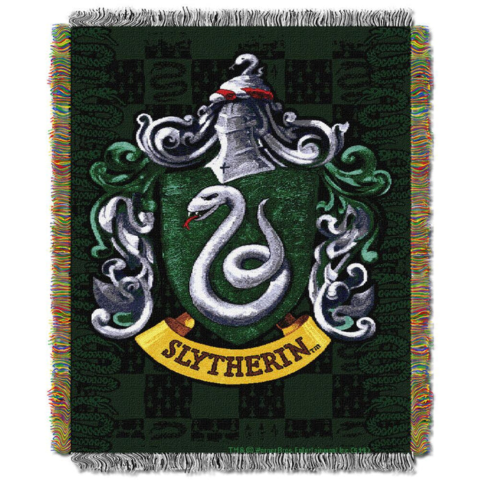 Exclusive Slytherin Crest Tapestry Throw