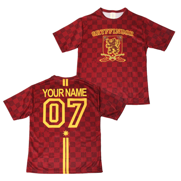 Exclusive Personalized Gryffindor Crest Youth Quidditch Jersey Style T-Shirt from Harry Potter