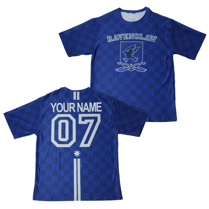 Exclusive Personalized Ravenclaw Crest Youth Quidditch Jersey Style T-Shirt from Harry Potter