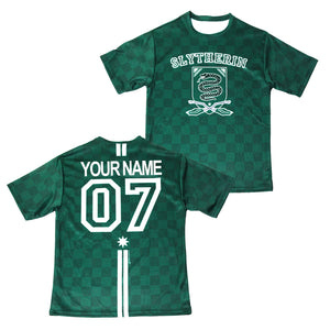 5635fa745 Exclusive Personalized Slytherin Crest Youth Quidditch Jersey Style T-Shirt  from Harry Potter ...