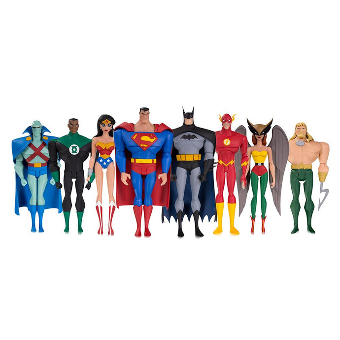 Set of 8 Justice League Animated Action Figures