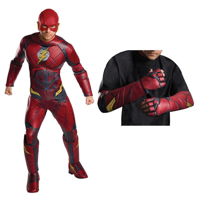Justice League Movie The Flash Adult Deluxe Costume Kit