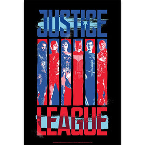 Justice League Movie Blue & Red The League Poster