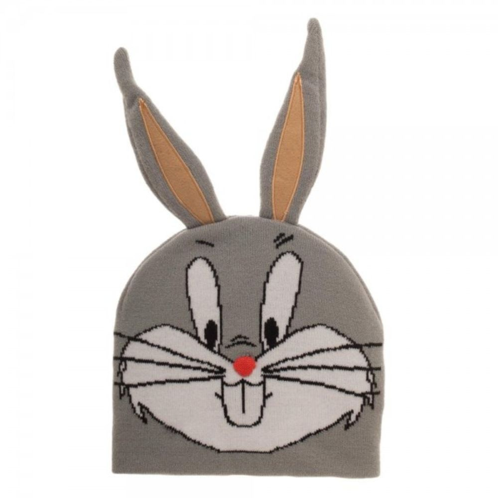 Looney Tunes Bugs Bunny Big Face Beanie w/ Ears
