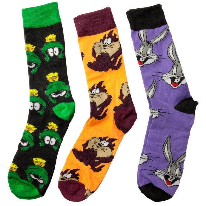Looney Tunes 3 Pair Crew Socks