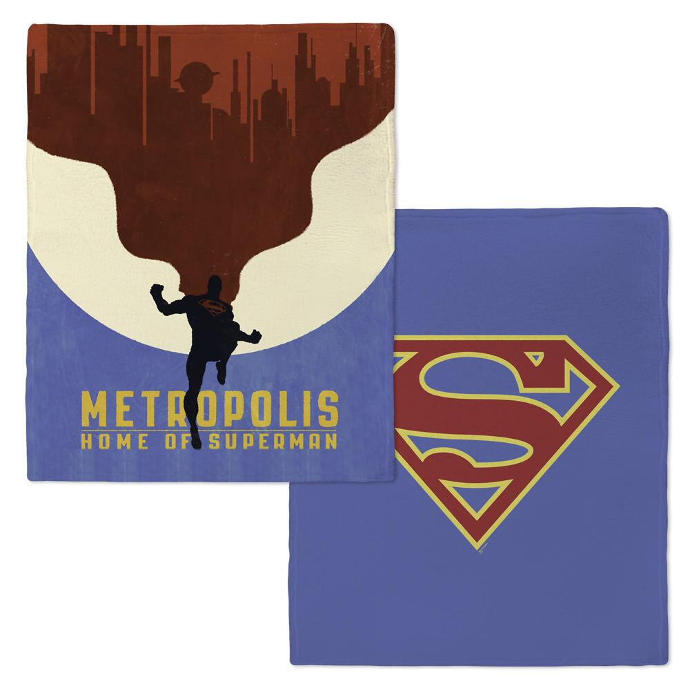 Superman Metropolis Fleece Throw Blanket from Warner Bros.