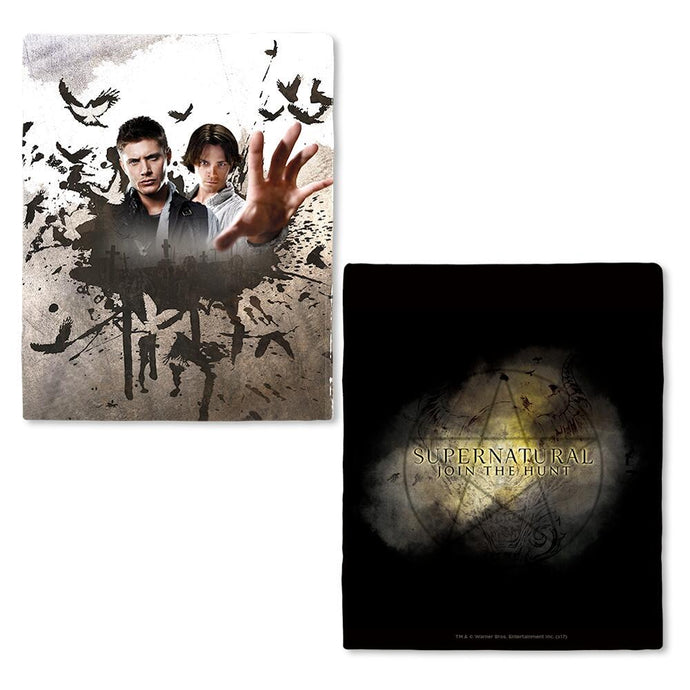 Supernatural Sam & Dean Fleece Throw Blanket