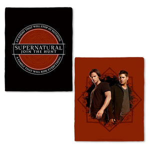 Supernatural Enemy & Family Fleece Throw Blanket
