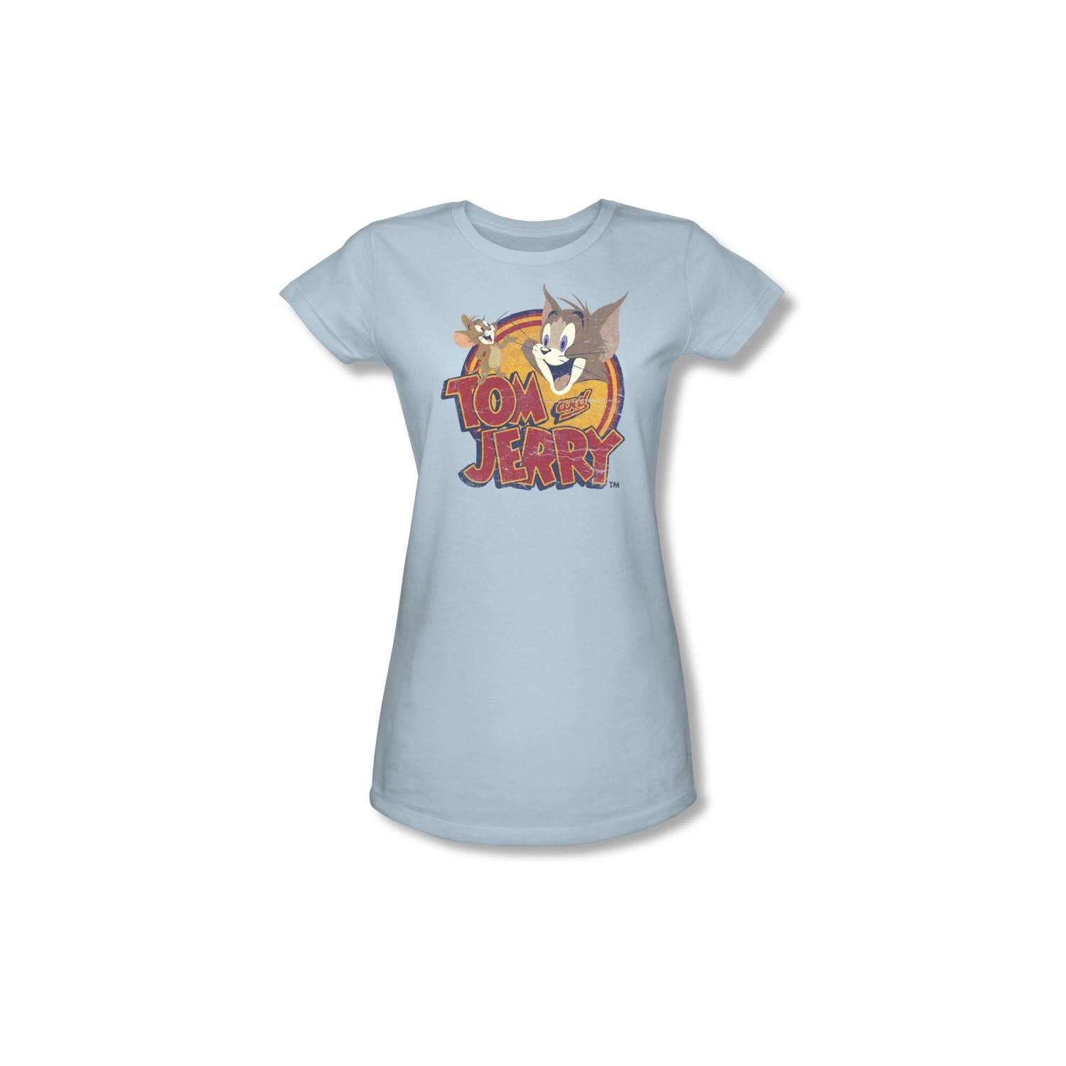 Tom and Jerry Vintage Logo Juniors Shirt - XX-Large