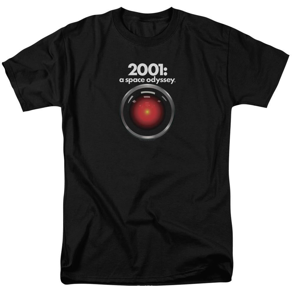 2001: A Space Odyssey HAL Adult Black T-Shirt - Small