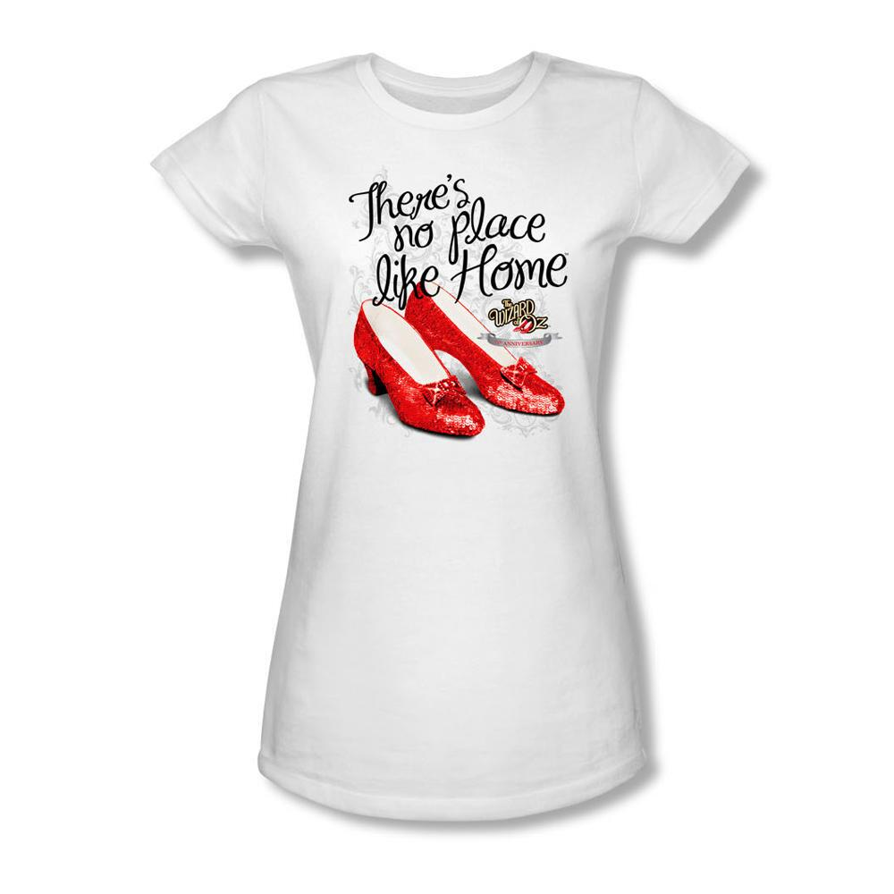 The Wizard of Oz™ There's No Place Like Home™ Ruby Slippers™ Juniors T-Shirt - Large