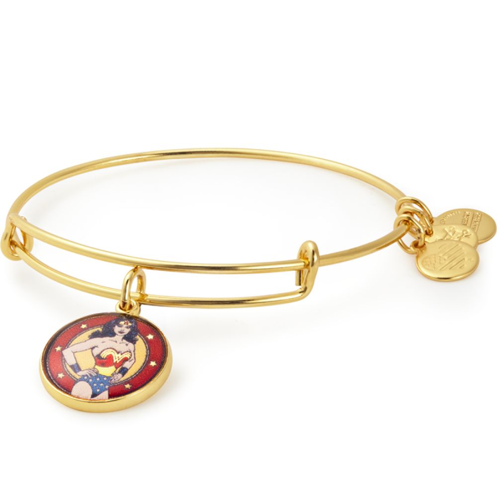 ALEX AND ANI Wonder Woman Gold Charm Bangle