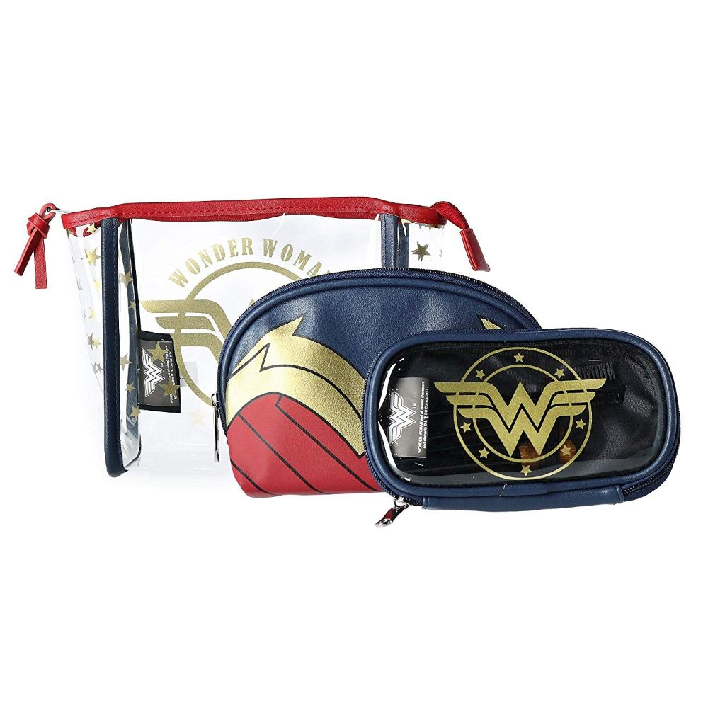 Wonder Woman 3 Piece Cosmetic Set