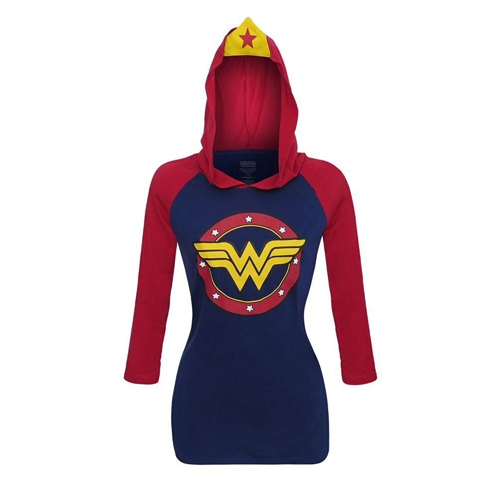 Wonder Woman Raglan Hoodie with Tiara