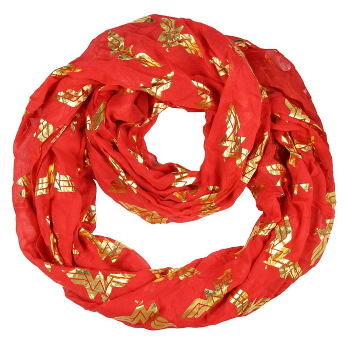 Wonder Woman Foil Logo Viscose Scarf