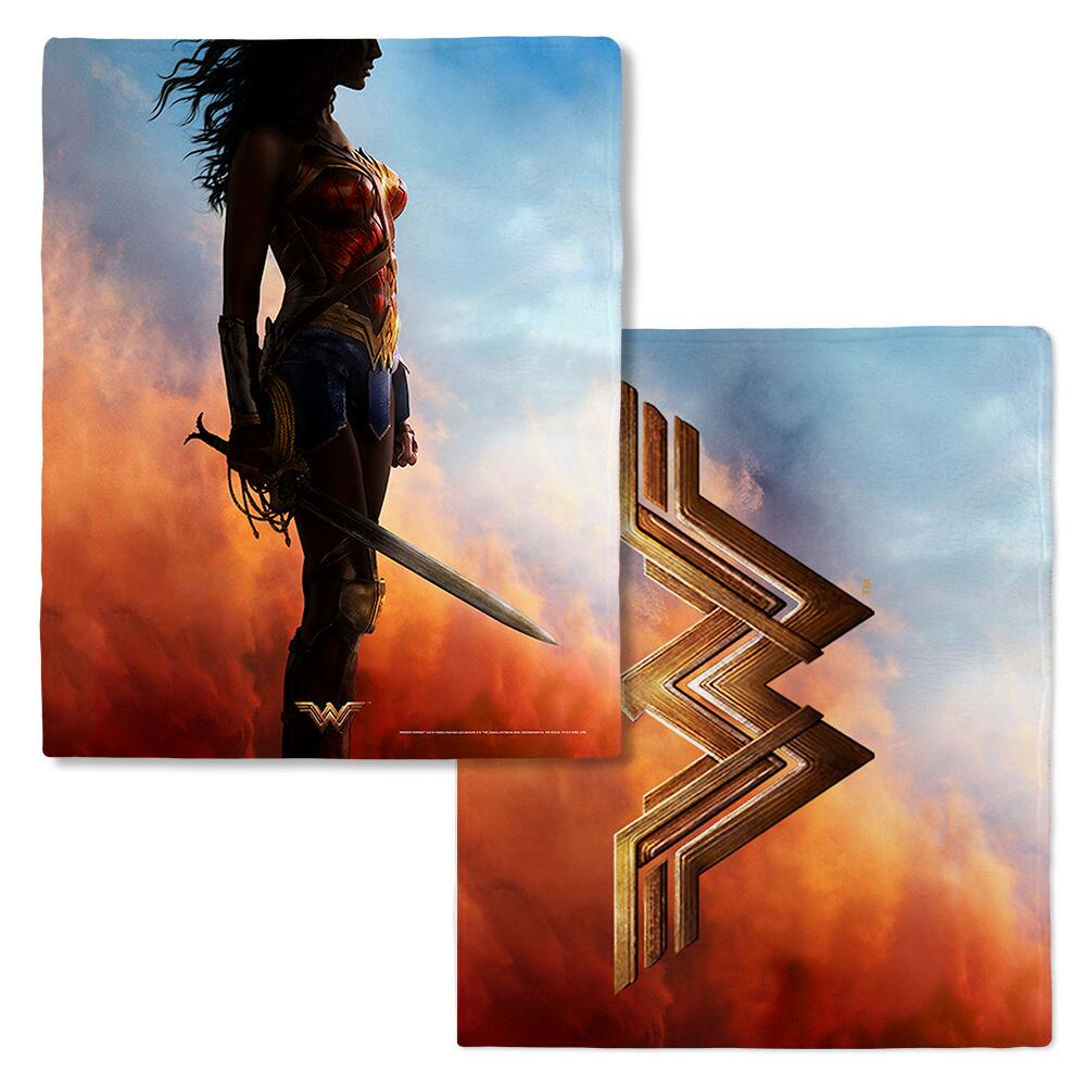 Wonder Woman Movie Silhouette Fleece Blanket