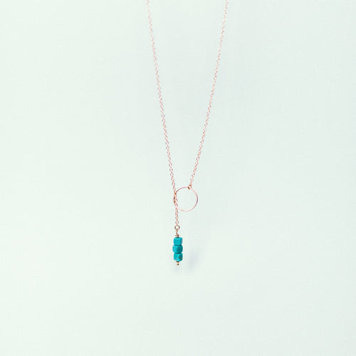 Turquoise necklace with adjustable length