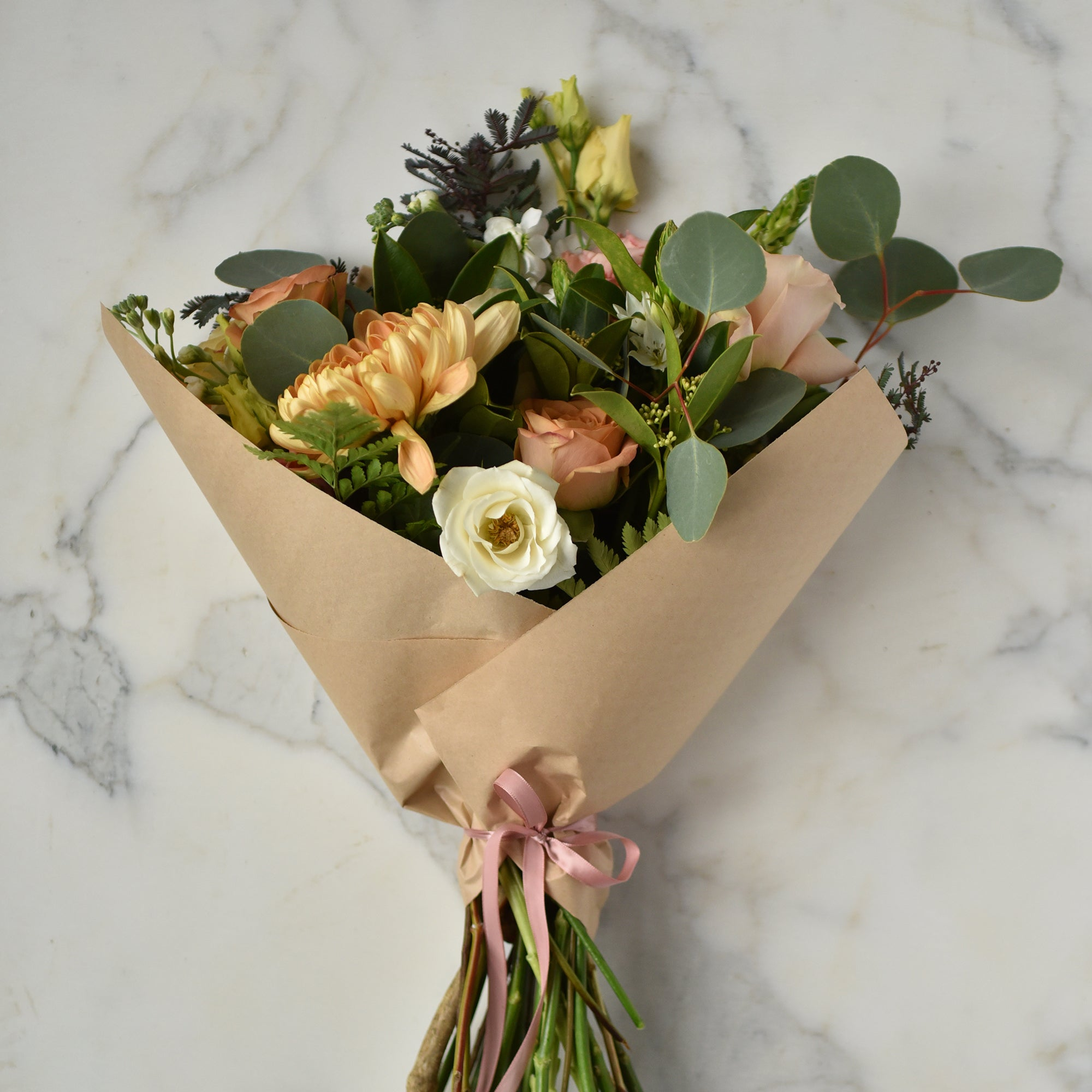Hand-tied Bouquet in Kraft Paper