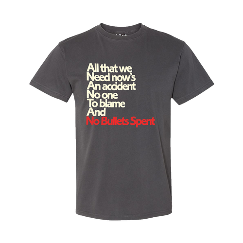 No Bullets Spent Lyric Tee - Spoon