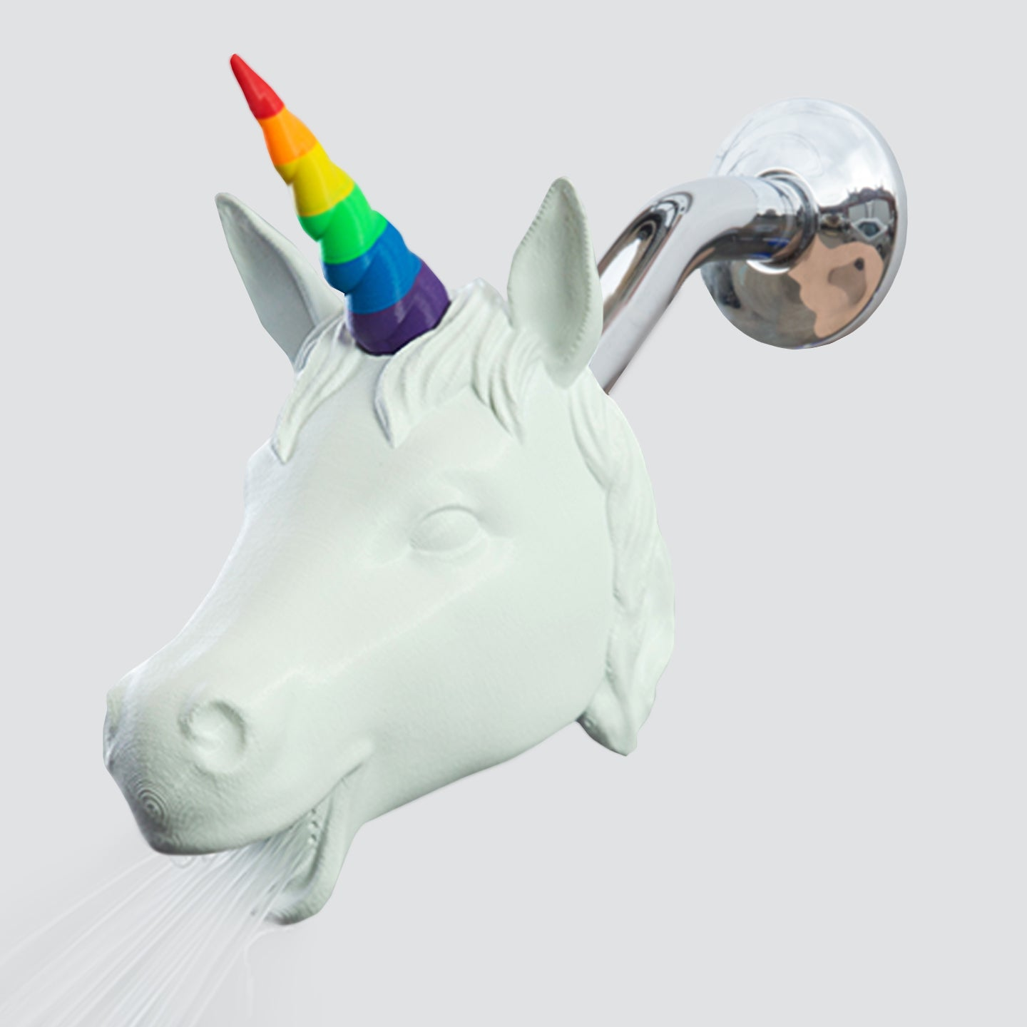 rainbow unicorn showerhead zooheads with water