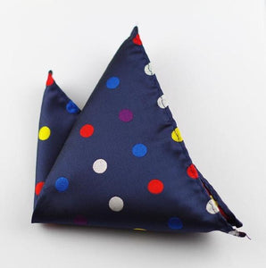 GUSLESON - Spotted Navy Pocket Square
