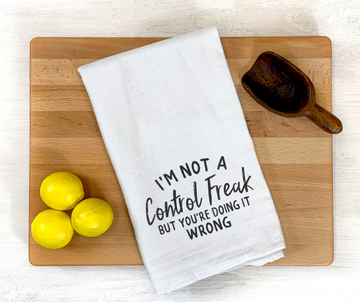 Control Freak Dish Towel