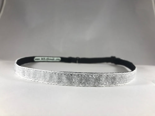 "White Ice Super Skinny Sparkle (3/8"" wide)"