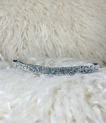 "Sparkle Silver Super Skinny (3/8"" wide)"