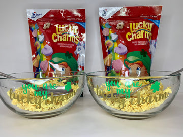 Lucky Charm cereal bowl