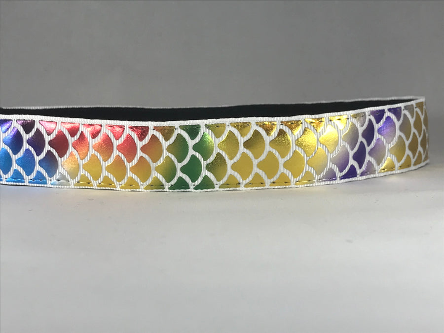 "Rainbow Mermaid Scales 1"" wide"