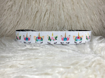 unicorn themed adjustable no slip headband
