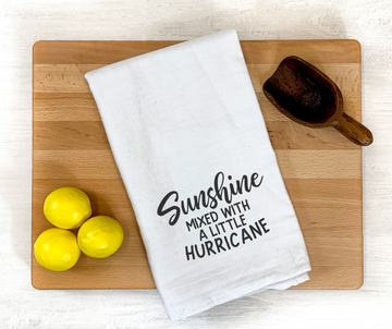 Sunshine and Hurricanes Dish Towel