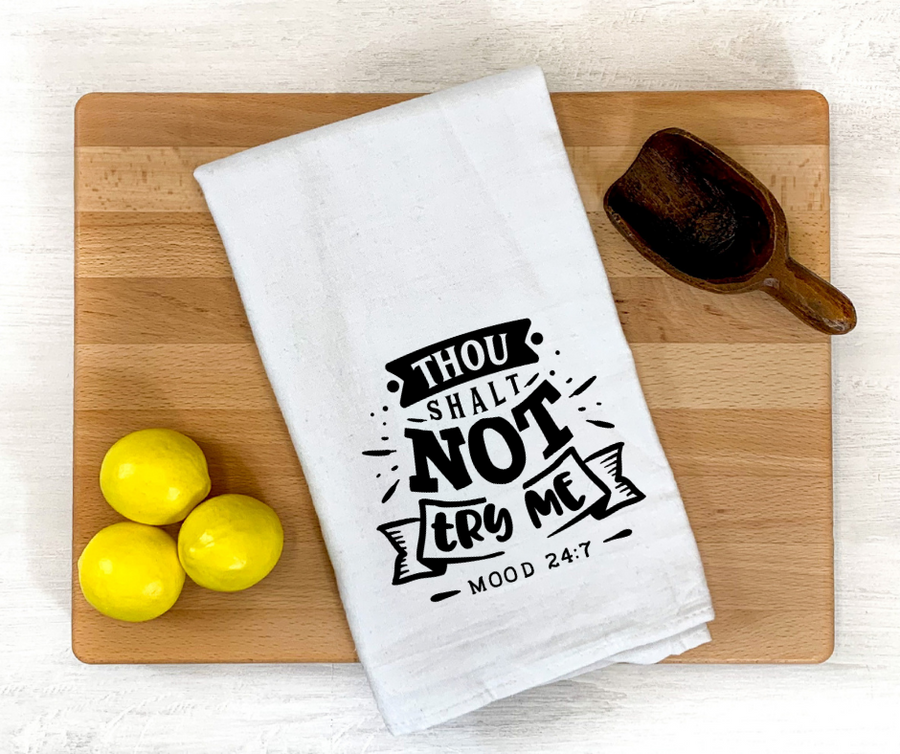 Thou Shall Not Dish Towel