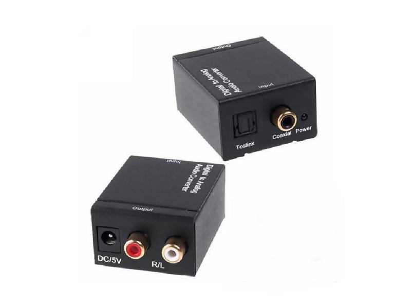 Digital to Analog Audio Converter DAC Converter Digital SPDIF Toslink Coaxial to Analog RCA L/R 3.5mm Jack Stereo Audio Adapter,- TechSpirit Inc., Brampton
