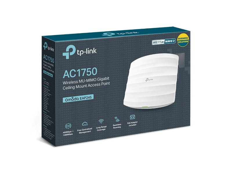 TP-Link TL-EAP245-V3 AC1750 Wireless Dual Band Gigabit Ceiling Mount Access Point