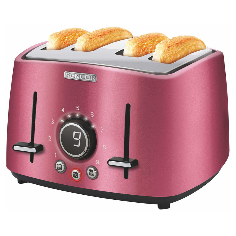 Sencor 4 Slice Premium Metallic Toaster with Toaster Rack - Red,- TechSpirit Inc., Brampton