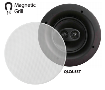 OMAGE QLC6.5ST Low Profile Stereo Ceiling Speakers with Magnetic Grill (EACH),- TechSpirit Inc.