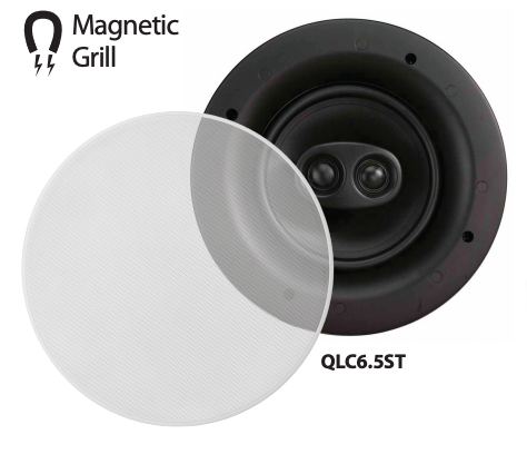 OMAGE QLC6.5ST Low Profile Stereo Ceiling Speakers with Magnetic Grill (EACH),- TechSpirit Inc., Brampton