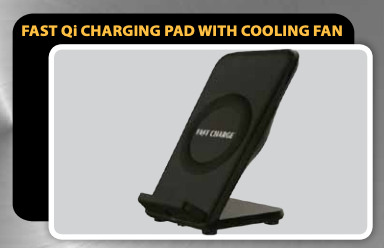 Fast Qi Charging Pad with built in Cooling Fan MWC-2,- TechSpirit Inc., Brampton