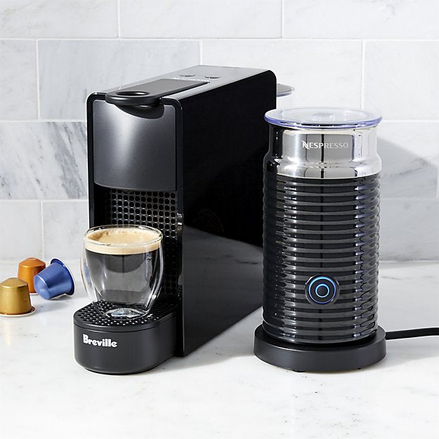 Breville Nespresso Essenza Mini with Aeroccino, Black - BEC250BLK1AUC1,- TechSpirit Inc., Brampton