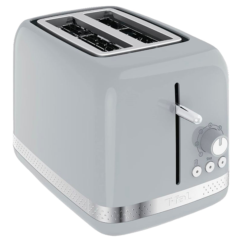 T-fal 2 Slice Toaster, Extra Wide Slot -Grey (Refurbished) (3MW),- TechSpirit Inc., Brampton