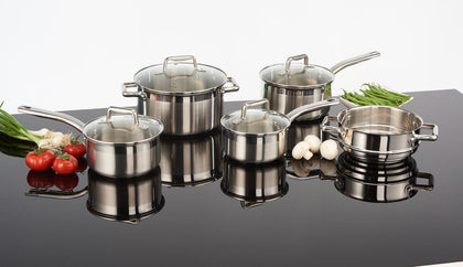 T-Fal Inspire Techno Release 9pc Stainaless Steel (G707S954)Set-Open Box,- TechSpirit Inc., Brampton