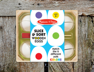 Melissa & Doug Slice and Sort Wooden Eggs